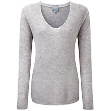 Buy Pure Collection Orchard Gassato Cashmere Chevron Rib Sweater, Heather Dove Online at johnlewis.com