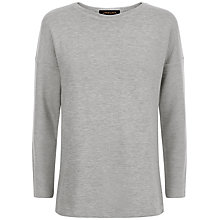 Buy Jaeger Split Back Sweatshirt, Grey Melange Online at johnlewis.com