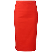 Buy Pure Collection Belford Pencil Skirt, Tomato Red Online at johnlewis.com