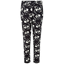 Buy Pure Collection Oakbank Capri Trousers, Black Floral Online at johnlewis.com