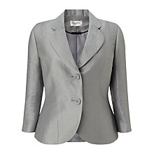 Buy Precis Petite Flat Crinkle Jacket, Grey Online at johnlewis.com