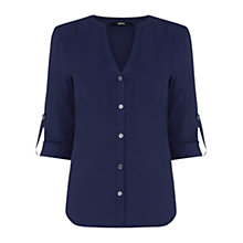 Buy Oasis Utility Shirt, Navy Online at johnlewis.com