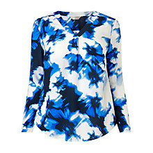 Buy Windsmoor Floral Print Tunic Top, Blue/Multi Online at johnlewis.com