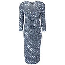 Buy Pure Collection Carlton Mosaic Print Jersey Dress, Navy/Multi Online at johnlewis.com