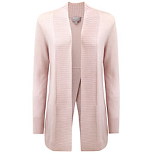 Buy Pure Collection Oakridge Cashmere Split Back Cardigan, Powder Blush Online at johnlewis.com