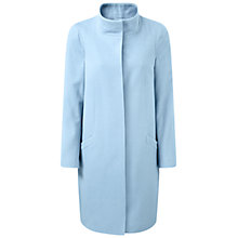 Buy Pure Collection Beningborough Funnel Neck Cashmere Blend Coat, Spring Blue Online at johnlewis.com