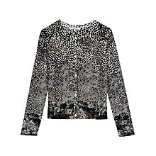 Buy Gerard Darel Calendar Cardigan, Black/Multi Online at johnlewis.com