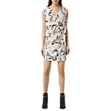 Buy AllSaints Airie Canna Dress, Chalk White Online at johnlewis.com