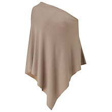 Buy East Knitted Poncho, Pebble Online at johnlewis.com