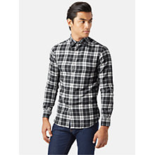 Buy Aquascutum Stapleton Check Shirt, Charcoal Online at johnlewis.com