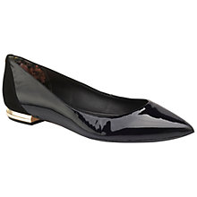 Buy Ted Baker Izlar Suede Panel Pumps, Black Online at johnlewis.com