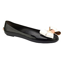 Buy Ted Baker Faiyte Large Bow Jelly Flat Pumps, Black Online at johnlewis.com