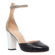 Buy Kurt Geiger Myra Two Part Block Heeled Court Shoes Online at johnlewis.com