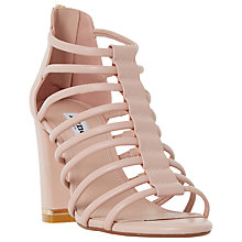 Buy Dune Maybells Block Heeled Multi Strap Sandals, Blush Online at johnlewis.com
