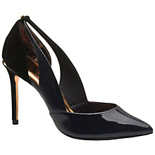 Buy Ted Baker Jiena Patent Leather Cut Out Court Shoes Online at johnlewis.com