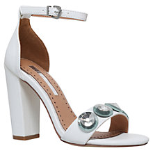Buy Miss KG Rani Block Heel Sandals, White Online at johnlewis.com