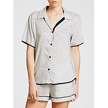 Buy Cyberjammies Peony Delight Geo Pyjama Top, White/Navy Online at johnlewis.com