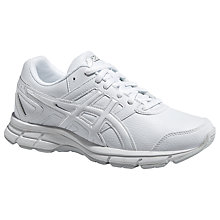 Buy Asics Children's Gel-Galaxy 8 GS Running Shoes, White/Silver Online at johnlewis.com