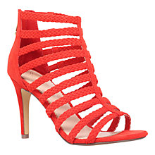 Buy KG by Kurt Geiger Honey Suede High Heel Sandals, Red Online at johnlewis.com