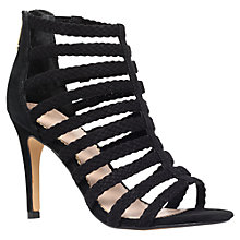 Buy KG by Kurt Geiger Honey Suede High Heel Sandals, Black Online at johnlewis.com
