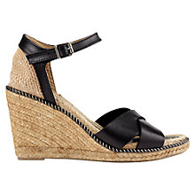 Buy Jigsaw Lia 16 Wedge Heeled Sandal, Black Online at johnlewis.com