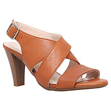 Buy Carvela Comfort Alison Cone Heeled Sandals, Tan Leather Online at johnlewis.com
