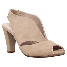 Buy Carvela Comfort Arabella Cone Heel Open Toe Court Shoes, Nude Suede Online at johnlewis.com