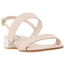Buy Dune Ninah Block Heeled Sandals, Blush Leather Online at johnlewis.com
