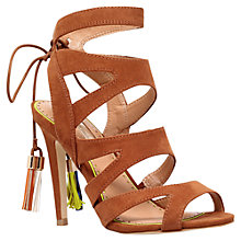 Buy Miss KG Frenchy 2 Cut Out Suede High Heel Sandals, Tan Online at johnlewis.com