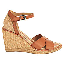 Buy Jigsaw Lia 16 Wedge Heeled Sandal, Tan Online at johnlewis.com