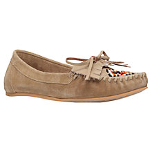 Buy Miss KG Mona Fringed Loafers, Beige Online at johnlewis.com