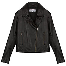 Buy Gerard Darel Cannelle Leather Jacket, Black Online at johnlewis.com