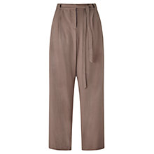 Buy Jigsaw Silk Drawstring Slouch Trousers, Fawn Online at johnlewis.com