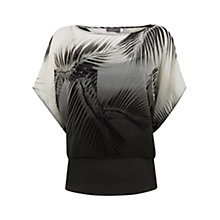 Buy Mint Velvet Kiya Print Double Layer Top, Multi Online at johnlewis.com