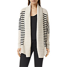 Buy AllSaints Thorp Cardigan, Porcelain/Ink Online at johnlewis.com
