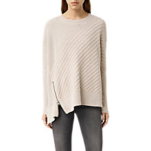 Buy AllSaints Fragment Jumper, Porcelain White/Nude Online at johnlewis.com