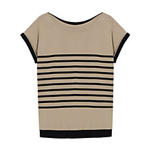 Buy Gerard Darel Cyrano Pullover Top, Beige Online at johnlewis.com