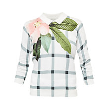 Buy Ted Baker Agneya Secret Trellis Collar Jumper, White Online at johnlewis.com