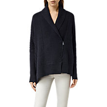 Buy AllSaints Riley Cardigan, Ink Blue Online at johnlewis.com