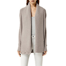 Buy AllSaints Leni Cardigan, Lunar Grey Online at johnlewis.com