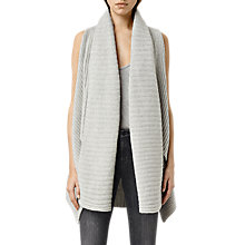 Buy AllSaints Sefir Sleeveless Cardigan, Marble Grey Online at johnlewis.com
