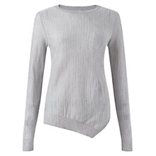 Buy Jigsaw Merino Pinstripe Jumper, Mid Grey Online at johnlewis.com