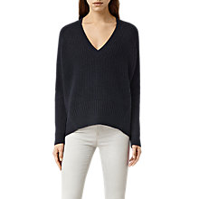 Buy AllSaints Galo V-Neck Jumper Online at johnlewis.com