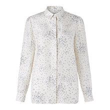 Buy Jigsaw Square Spot Silk Shirt, Ivory Online at johnlewis.com