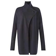 Buy Jigsaw Ring Fastening Pique Cardigan, Navy Online at johnlewis.com