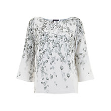 Buy Mint Velvet Maia Print Flared Sleeve Top, Multi Online at johnlewis.com