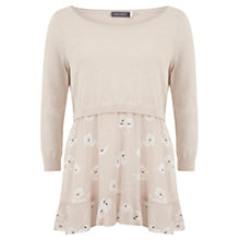 Buy Mint Velvet Simone Print Layered Knit Jumper, Pale Pink Online at johnlewis.com