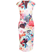 Buy Ted Baker Odeela Floral Swirl Bodycon Dress, Fuschia Online at johnlewis.com