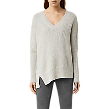 Buy AllSaints Riley Jumper, Mist Grey Marl Online at johnlewis.com