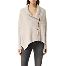 Buy AllSaints Fragment Cardigan, Porcelain White/Nude Online at johnlewis.com